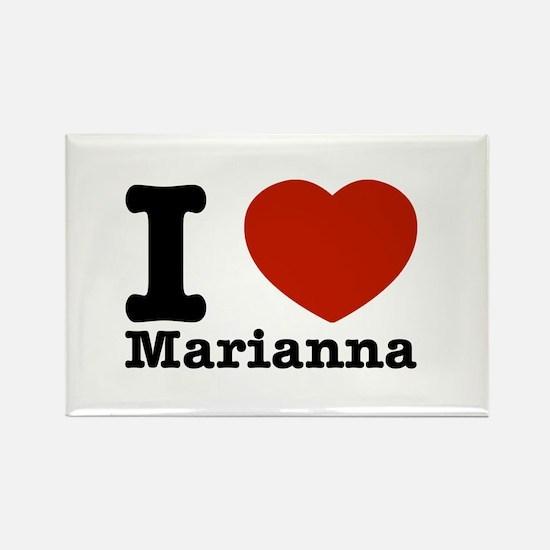 I Love Marianna Rectangle Magnet