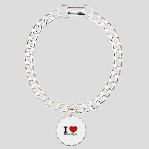 I Love Marilyn Charm Bracelet, One Charm