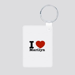 I Love Marilyn Aluminum Photo Keychain