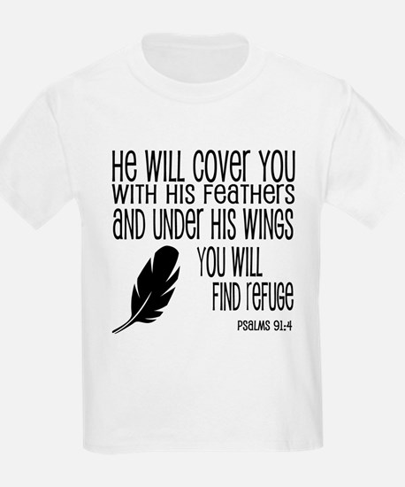 Under His Wings Verse T-Shirt