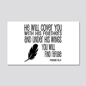 Under His Wings Verse 20x12 Wall Decal