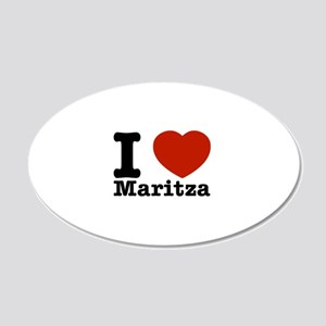 I Love Maritza 20x12 Oval Wall Decal