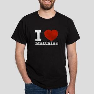 I Love Matthias Dark T-Shirt