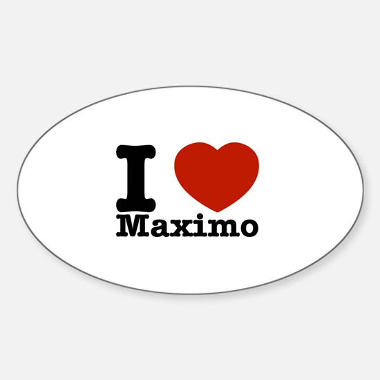 I Love Maximo Sticker (Oval)