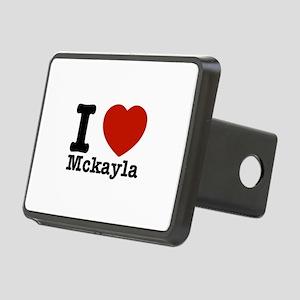 I Love Mckayla Rectangular Hitch Cover