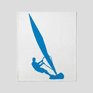 Windsurfer Windsurfing Throw Blanket