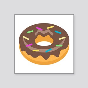 "Donut Emoji Square Sticker 3"" x 3"""