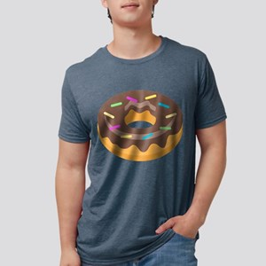 Donut Emoji Mens Tri-blend T-Shirt