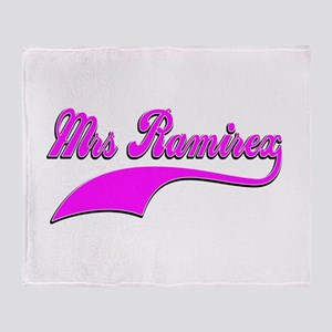 Mrs Ramirex Throw Blanket