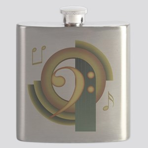 Bass Clef Deco Flask