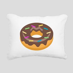 Donut Emoji Rectangular Canvas Pillow