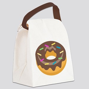 Donut Emoji Canvas Lunch Bag