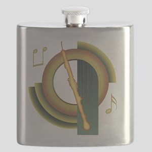 English Horn Deco Flask