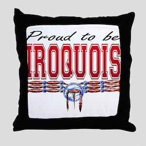 Proud to be Iroquois Throw Pillow