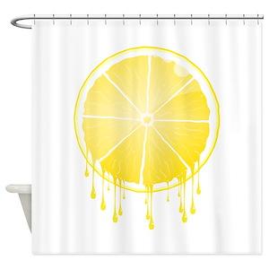 Lemon Fruit Shower Curtains