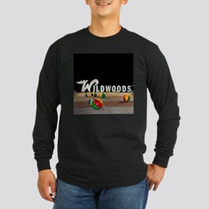 Wildwoods Sign Wildwood New Je Long Sleeve T-Shirt