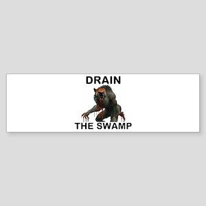 DRAIN THE SWAMP Sticker (Bumper)