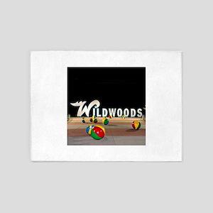 Wildwoods Sign Wildwood New Jersey 5'x7'Area Rug