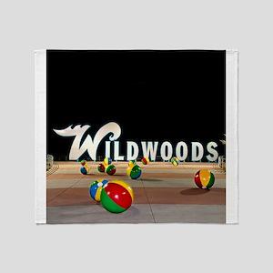 Wildwoods Sign Wildwood New Jersey Throw Blanket