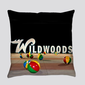 Wildwoods Sign Wildwood New Jersey Everyday Pillow