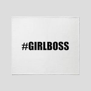 Hashtag Girl Boss Throw Blanket