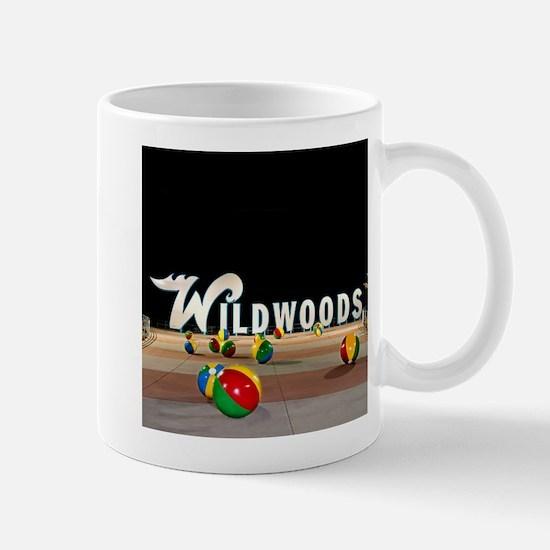 Wildwoods Sign Wildwood New Jersey Mugs