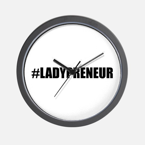 Hashtag Lady Entrepreneur Wall Clock
