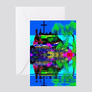 Christmas Christian Cross Greeting Card