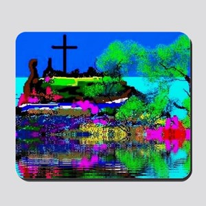 Christmas Christian Cross Mousepad