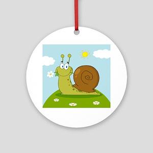 Snail Ornament (Round)
