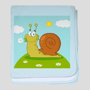 Snail baby blanket