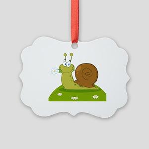 Snail Picture Ornament