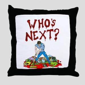 WHos next Throw Pillow
