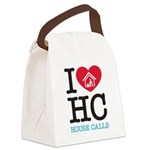 I Heart House Calls Canvas Lunch Bag