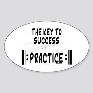 Key to Success Oval Sticker