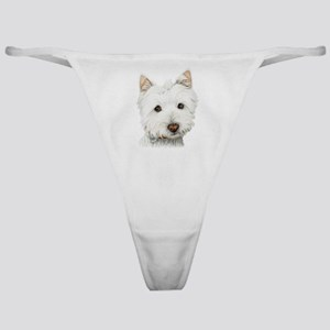 pastel on canvas westie.jpg Classic Thong