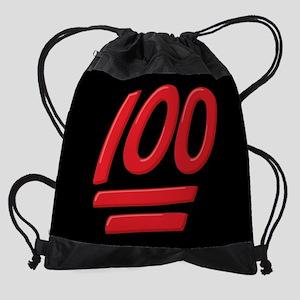 100 Emoji Drawstring Bag