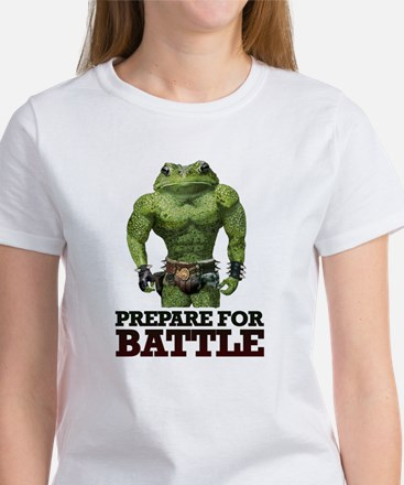 PREPARE FOR BATTLE says TOAD Women's T-Shirt