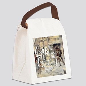 God Bless Us Every One! Canvas Lunch Bag