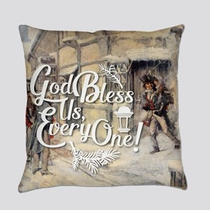 God Bless Us Every One! Everyday Pillow