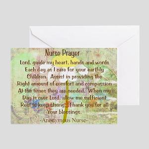 Nurse Prayer Blanket Size Yellow Greeting Card