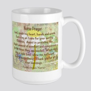 Nurse Prayer Blanket Size Yellow Large Mug