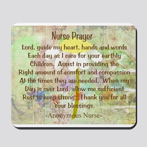 Nurse Prayer Blanket Size Yellow Mousepad