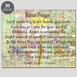 Nurse Prayer Blanket Size Yellow Puzzle