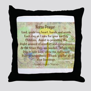 Nurse Prayer Blanket Size Yellow Throw Pillow