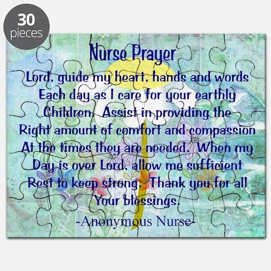 Nurse prayer blanket BLUE.PNG Puzzle