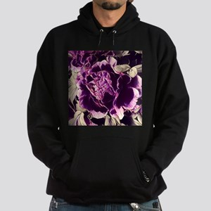 chic purple floral peony Sweatshirt