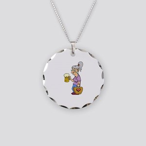 Bowling Necklace Circle Charm