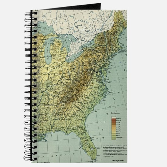 Vintage United States Physical Features Ma Journal