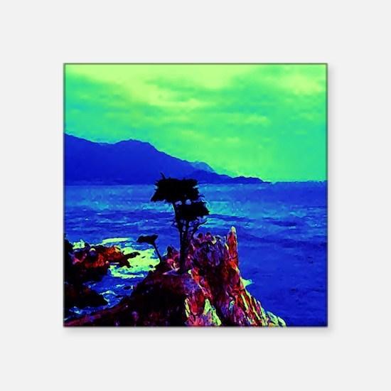 "AFTM Carmel Sunset Square Sticker 3"" x 3"""